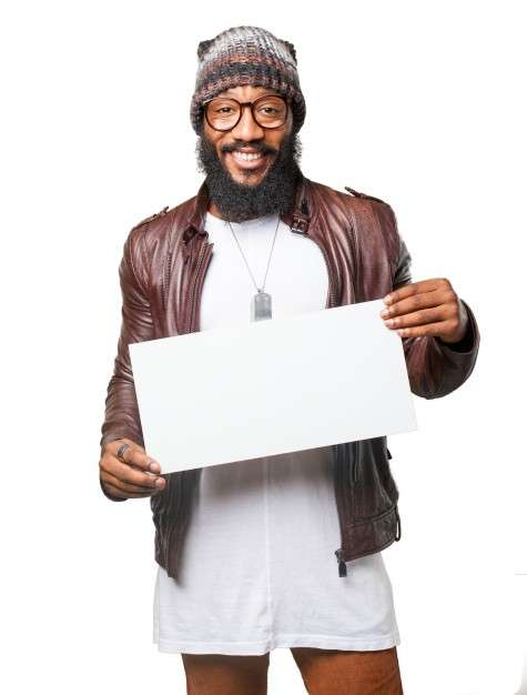 smiling_man_holding_a_poster
