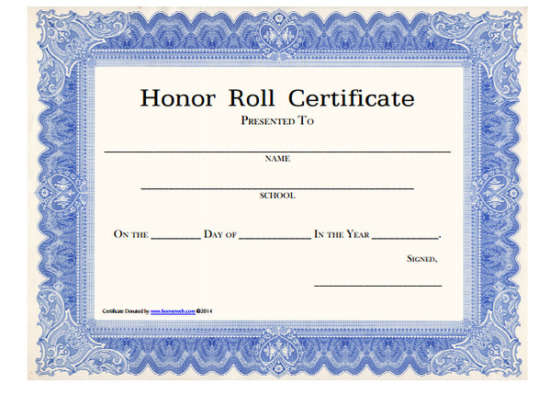 Honor roll template 10 best images of honor roll certificates 100 huge collection of free certificate templates xdesigns yelopaper Gallery