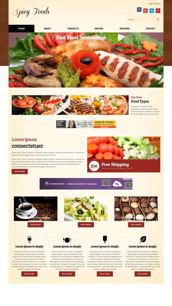 spicy_food_corners_mobile_website_template