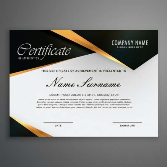 certificate_decorated_with_black_shapes_and_golden_lines