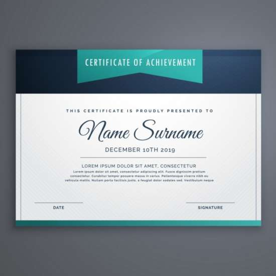 certificate_decorated_with_blue_shapes