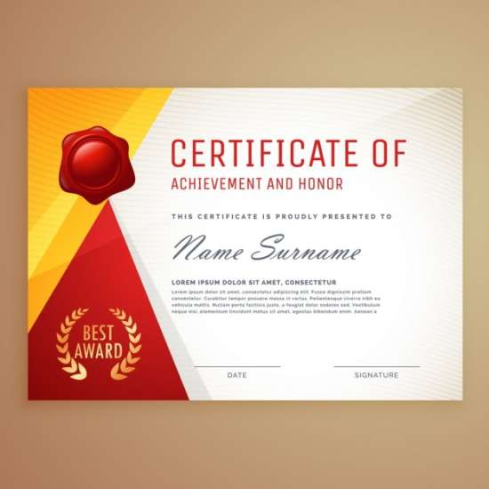certificate_decorated_with_red_and_yellow_shapes