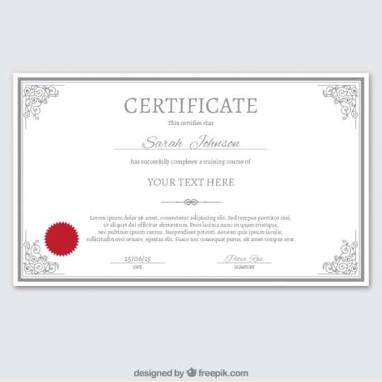 certificate_template_in_ornamental_style