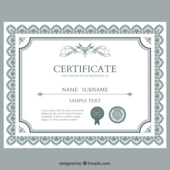Huge Collection Of Free Certificate Templates  Xdesigns