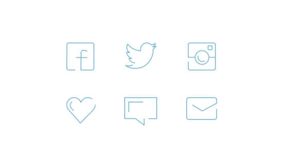 minimal_social_line_icons_psd
