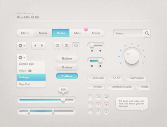 blue_milk_ui_kit_psd