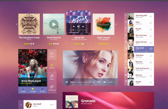 bright_music_ui_kit_psd