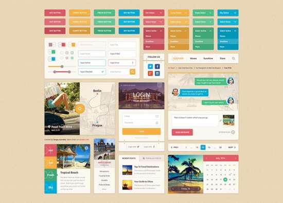 bright_summer_ui_kit_psd