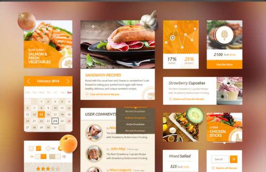 delicious_recipes_food_ui_kit_psd