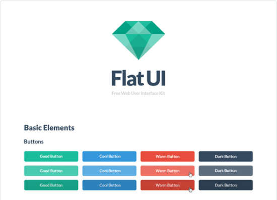 flat_emerald_ui_kit_psd