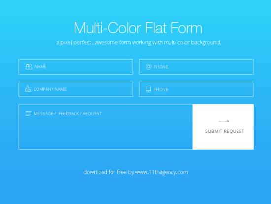 flat_colorful_form_psd_widget