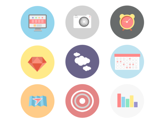flat_icons_set_psd