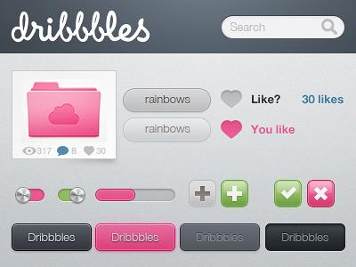fun_pink_ui_kit_psd