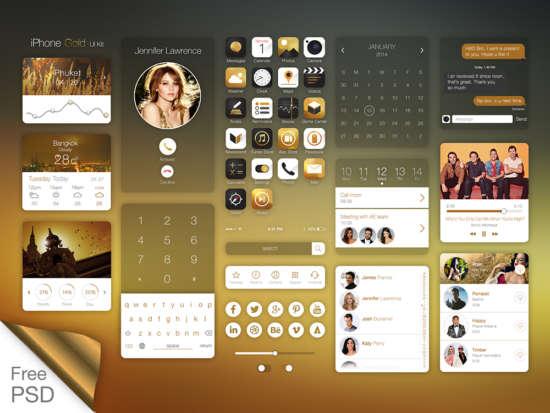 iphone_gold_ui_kit_psd