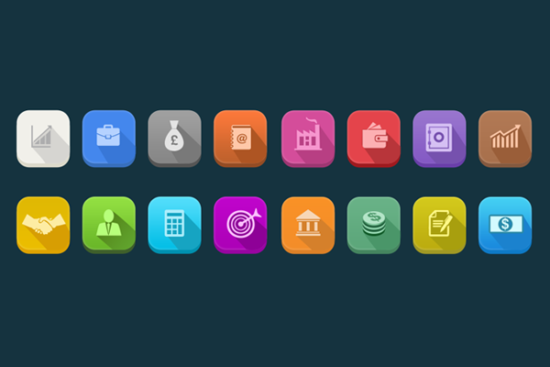long_shadow_business_icons_psd