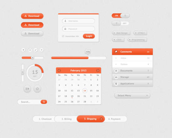 orange_&_white_ui_kit_psd