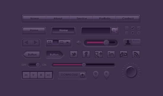 purple_ui_kit_psd