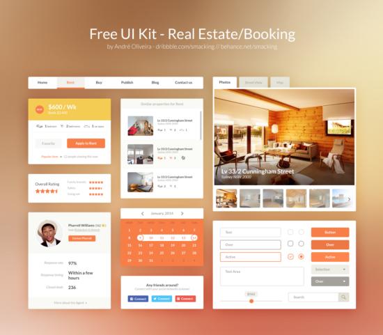 real_estate_ui_kit_psd