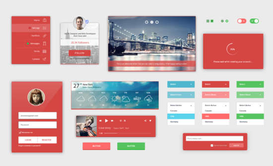 redlight_complete_ui_kit_psd