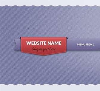 ribbon_website_menu_psd
