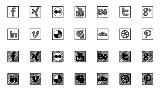 sketched_social_icons_psd