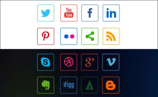 social_media_line_icons_psd