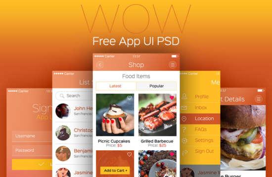 wow_app_ui_kit_psd