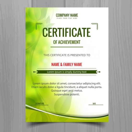 green_shiny_certificate_template