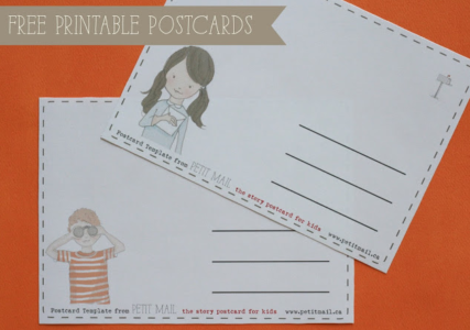 Free Printable letter-writing Postcard