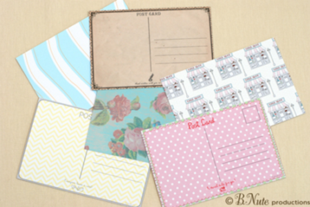 Printable Postcard Backs