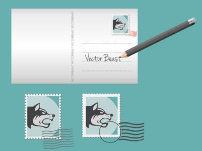 VectorBeast Postcard Template