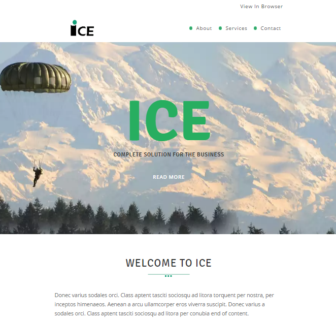 ICE Responsive Email Template