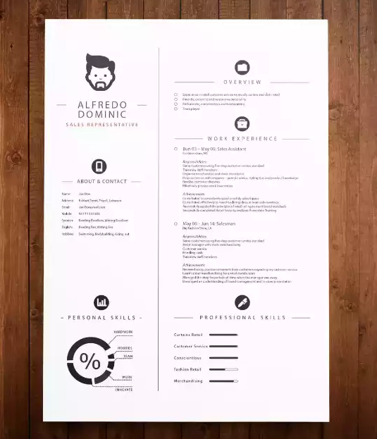 22 Free Minimalist Amp Simple Resume Templates Xdesigns