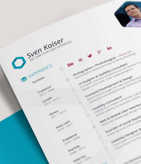 Vita Resume CV InDesign Template