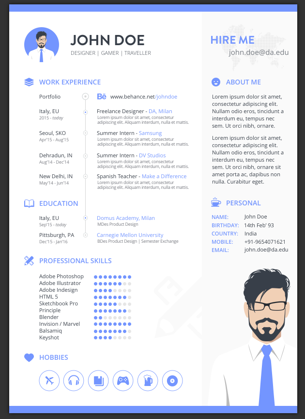 22 free minimalist simple resume templates xdesigns