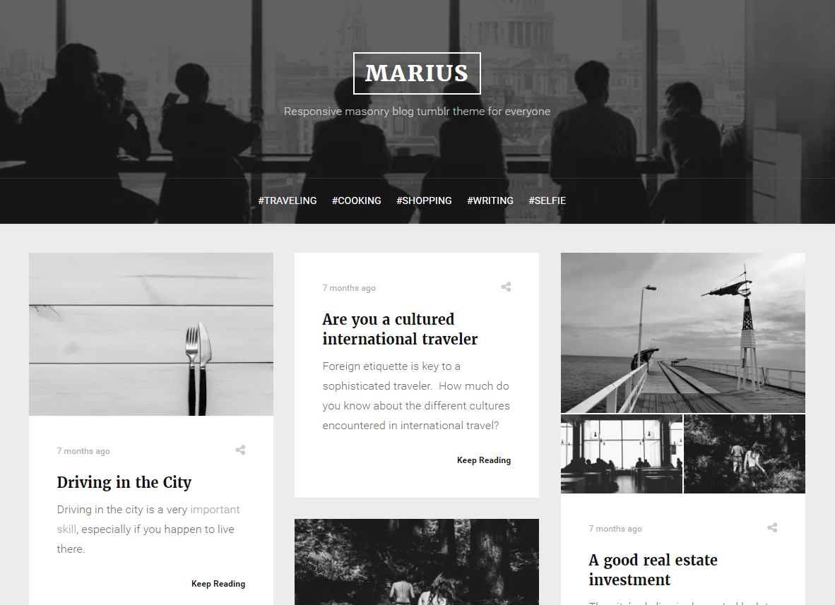 Marius Grid Tumblr Theme