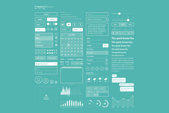 mobile_ui_kit_blueprint_psd