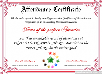 attendence_certificate_template