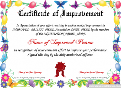 improvement_certificate_template