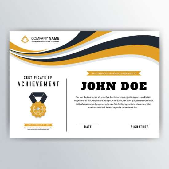 yellow_wavy_certificate_of_achievement