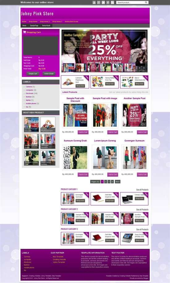 johny_palelu_peang_shopping_blogger_template_screenshot