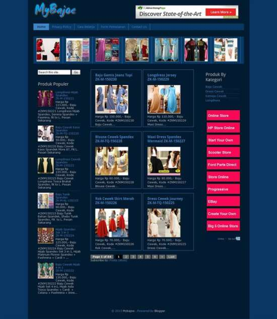 simple_blogger_online_store_template_screenshot
