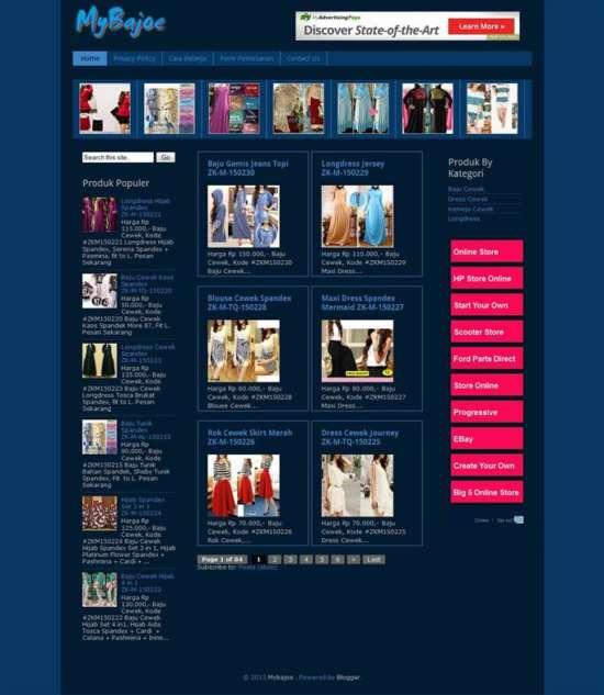 simple_blogger_online_store_template_screenshot