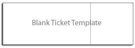Blank Tickets Template  Concert Ticket Template Free Printable
