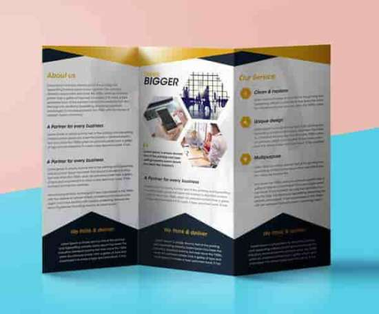 psd tri fold brochure template - download 35 free company brochure mockups xdesigns