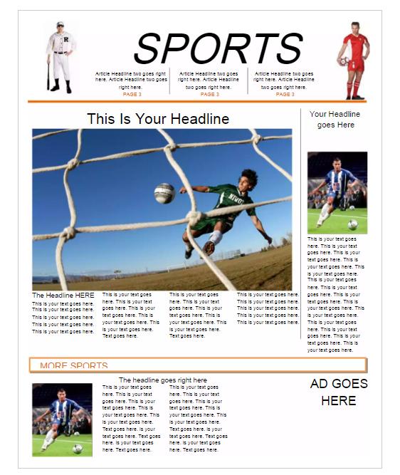 Sport Newspaper Template
