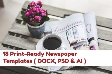 Free DOCX, PSD & AI newspaper templates