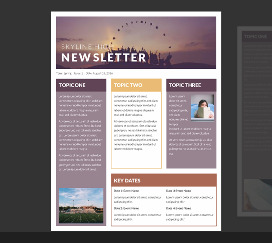 Attractive Free Classroom Newsletter Template Throughout Free School Newsletter Templates For Word