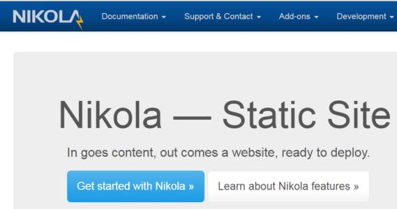 Nikola Static Site Generator