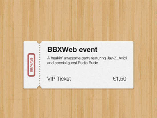 Free Ticket Templates  Psd Mockups  Xdesigns